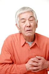 心臓の調子が悪い高齢者