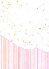 桜花びらとストライプ