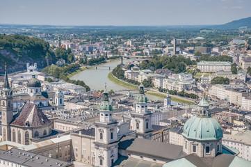 Salzburg general view from Salzburg Fortress (Festung Hohenzalsb