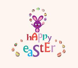 easter bunny playful cute eggs fun humor card