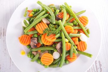 plate of vegetable