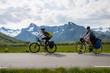 Two mountain bike cyclists, Norway