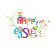 Happy easter floral greeting card