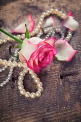 Postcard with elegant  flower