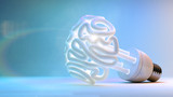 Brain Flourescent Light Bulb - 78354526