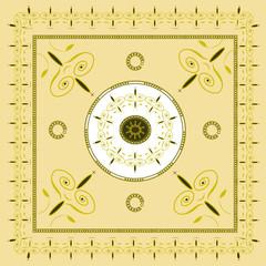 Native creamy yellow background pattern2