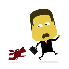 Businessman Chased the Dog