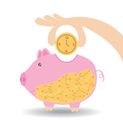 Piggy Bank save time or make time compareVector ,eps10
