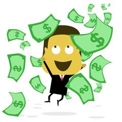 Businessman Catching Money