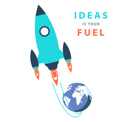 Start up concept: ideas is your fuel.
