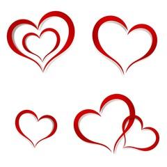 Hearts. Abstract Logo design