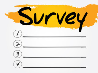 Survey Blank List, vector concept background