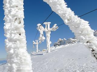 Ski Lift in Frost