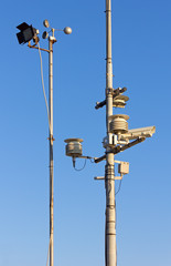 Two Poles with Various Gauges and Devices