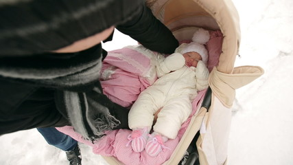 Placed the Baby in the Pram