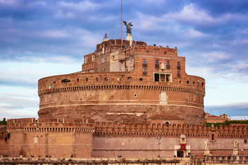 View of Castel Sant'Angelo, Rome, Italy.