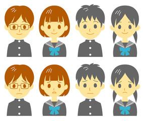 学生 表情 困り顔