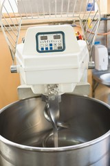 Industrial mixer on counter