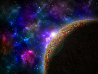 Outer Space Planet Scenery