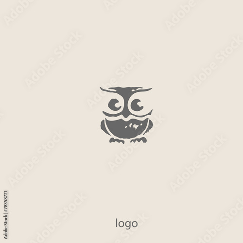 Foto op Plexiglas Uilen cartoon Owl doodle cartoon