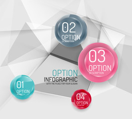 Business geometric option steps infographics