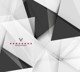 Triangular modern abstract background