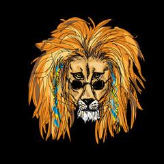 Hipster Lion Color