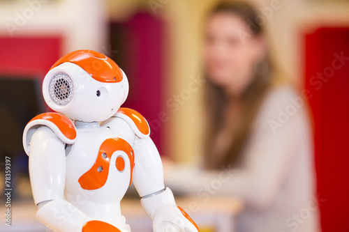 Poster Child playing and learning with robot