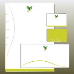 Charte Graphique Feuillage Forme Y - Logo et Carte Visite