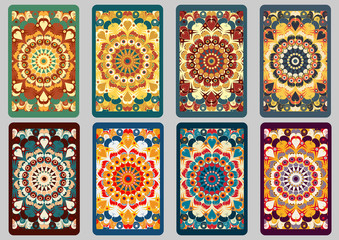 Set retro backgrounds. Cards of invitation. Visiting cards