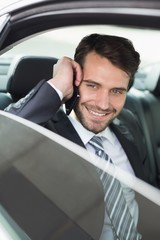 Young businessman on the phone