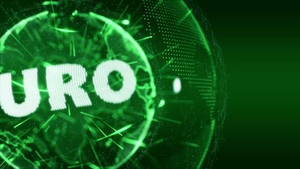 World News Euro currency Intro Teaser green