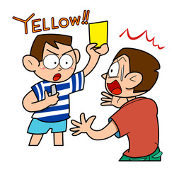 Soccer-yellow card