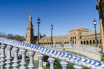 Plaza de España en  Sevilla. España.