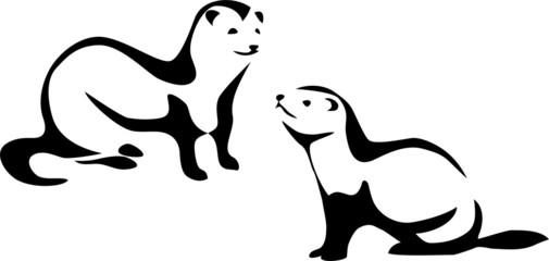 stylized ferret