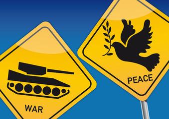 Achtung Krieg und Frieden