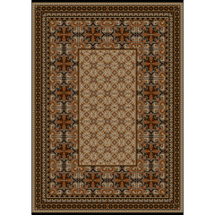 Luxurious carpet with original pattern with brown shades