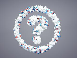 Pharmaceutical question mark