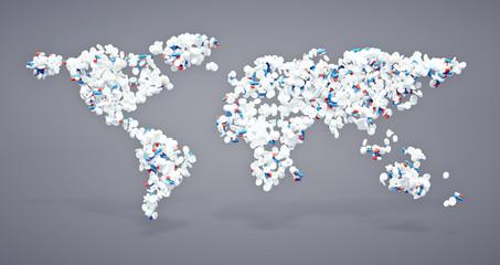 Pharmaceutical world icon