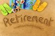 Retirement beach writing - 78361503
