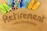 Retirement beach writing