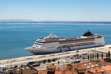 Cruise ship in Lisbon