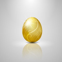 Easter golden egg.vector illustration Background