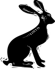 Vector illustration of hare