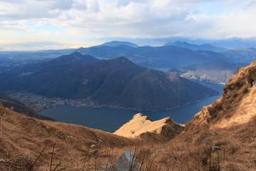 lago di Lugano dal monte Generoso