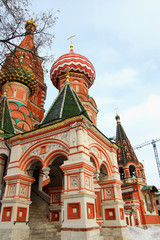Appearance beautiful domes of St. Basil's Cathedral
