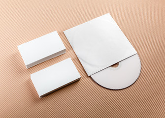Business cards and CD