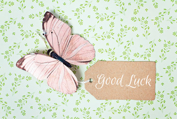 lovely greeting card - good luck