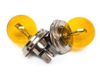 Gelbe Zweifaden-Glühlampen