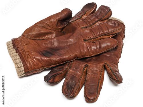 Leinwanddruck Bild Lederhandschuhe